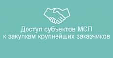 Доступ субъектов МСП к закупкам крупнейших заказчиков
